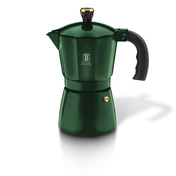Berlinger Haus 2 Cups Aluminium Coffee Maker - Emerald Collection