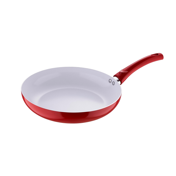 Very Pan 28cm Aluminium Ceramic Coating Fry Pan - Red