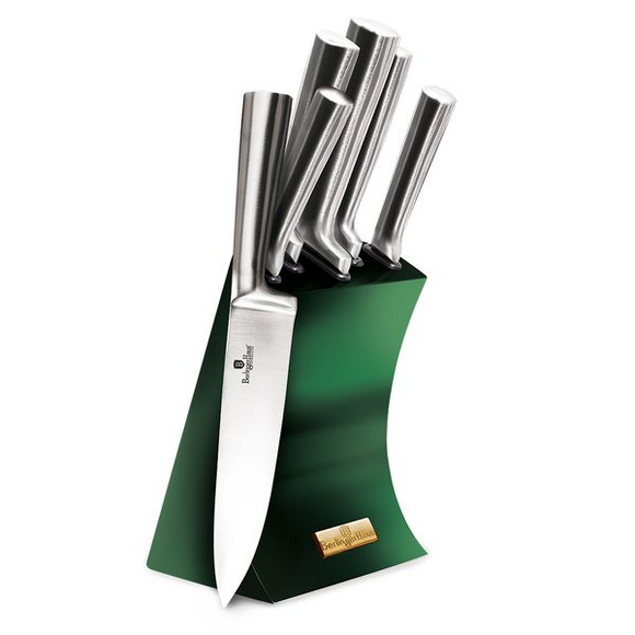 Berlinger Haus 6 Piece Knife Set with Stand - Emerald Edition
