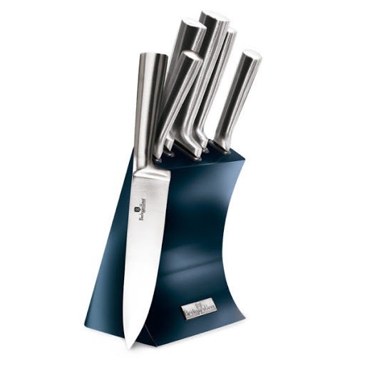 Berlinger Haus 6 Piece Stainless Steel Knife Set with Stand - Aquamarine Edition