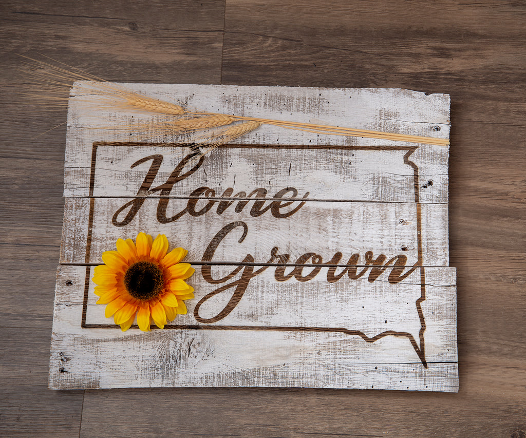 Home Grown State Pallet Sign