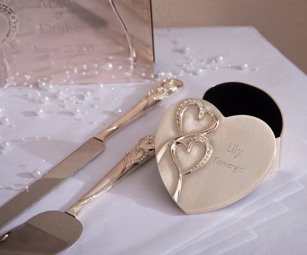 """Hearts"" Wedding Cake Server Set"
