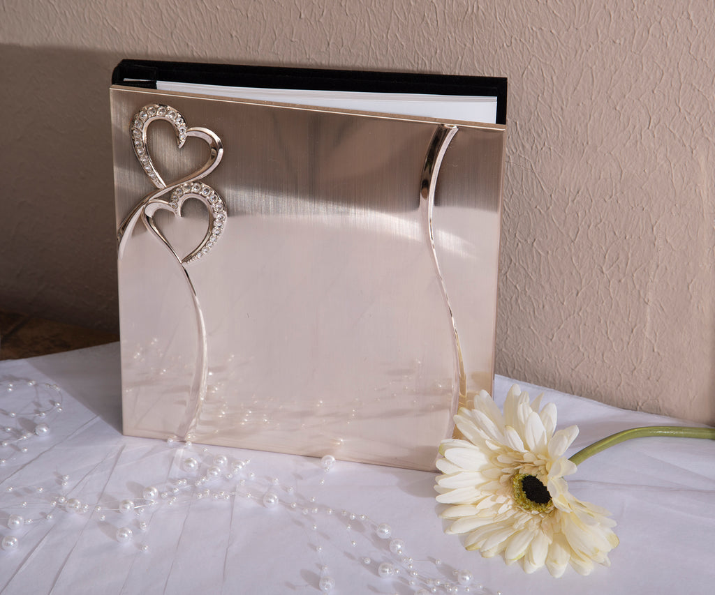 """Hearts"" Wedding Guest Book"
