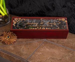 Rosewood Wine Box with Acrylic Lid