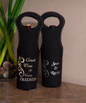 Rustic Leatherette Wine Bag