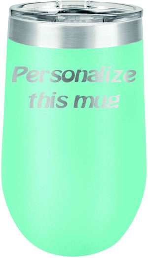 Personalized 16 oz Stemless Wine Tumbler