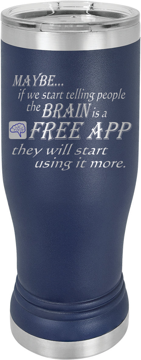 The Brain Is A Free App Mug