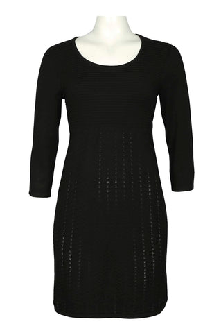 Black Fit and Flare Sweater Dress - Sarai Afrique