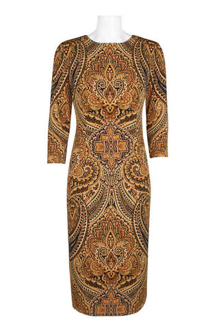 Brown Parsley Bodycon Dress - Sarai Afrique