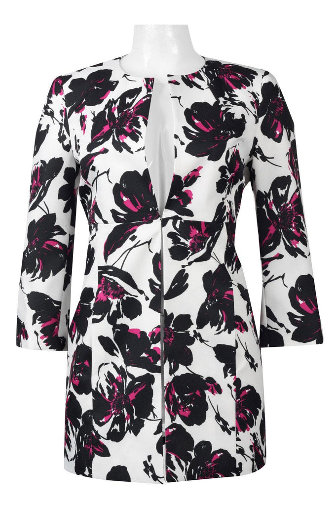 Black Label White Flowered Jacket - Sarai Afrique
