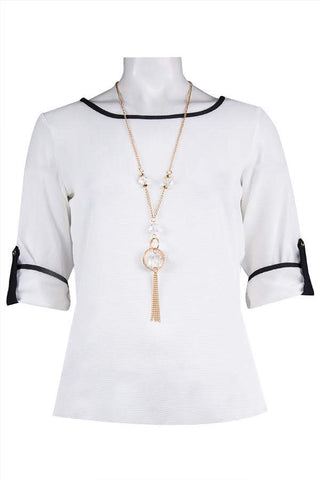 White Medallion Top