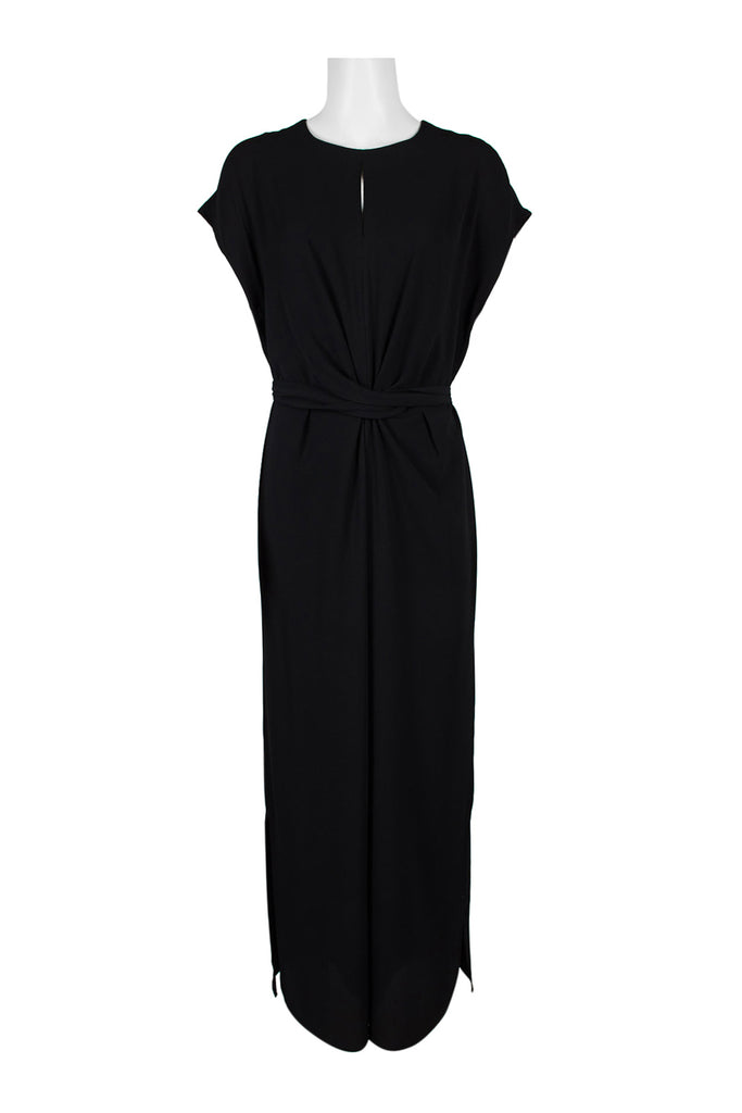 Black Jumpsuit with Tie Around Bow