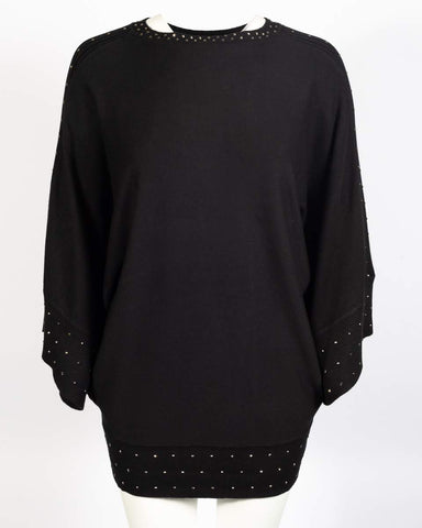 Black Studed Sweater Top - Sarai Afrique