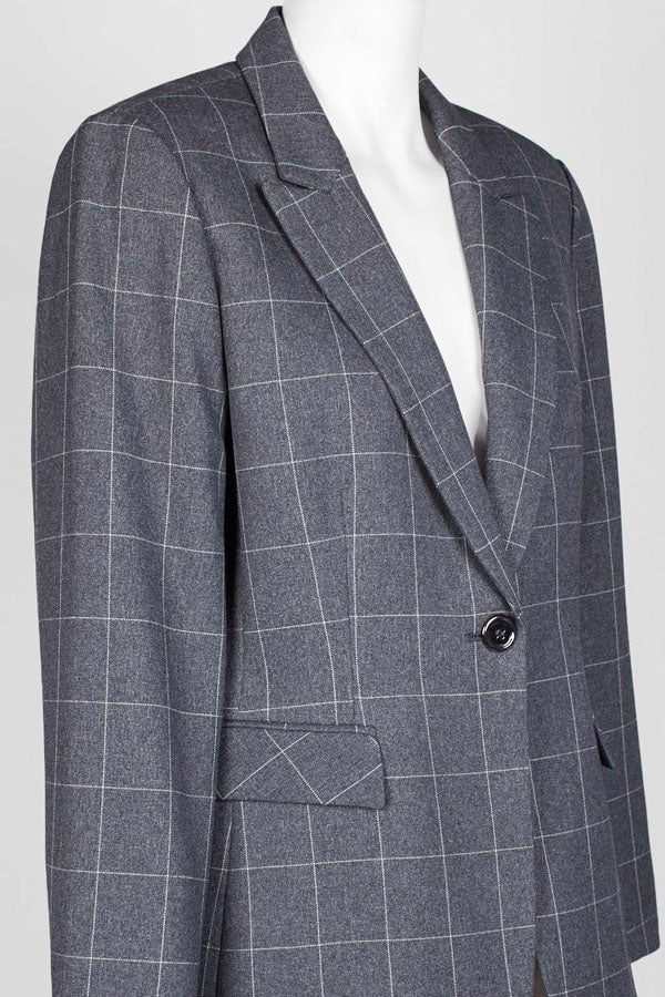 Seal One Button Blazer.