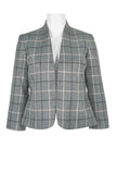 Grey Black Plaid Blazer - Sarai Afrique