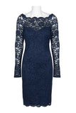 Navy Lace Shimmer Dress - Sarai Afrique