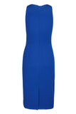 Cobalt Ruched Dress. - Sarai Afrique