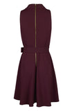 Burgundy Fit and Flare - Sarai Afrique