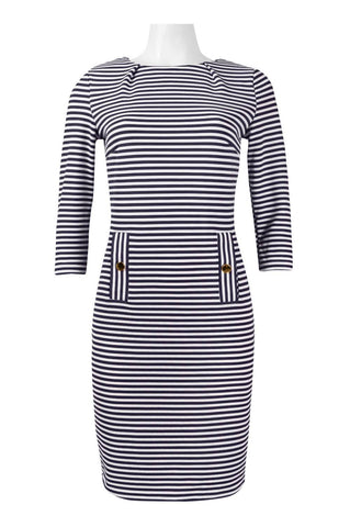 Marine Stripped Dress. - Sarai Afrique