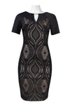 Black Lace Keyhole Dress - Sarai Afrique