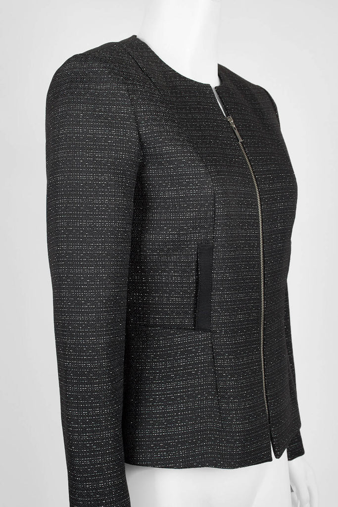 Black silver zipped jacket - Sarai Afrique
