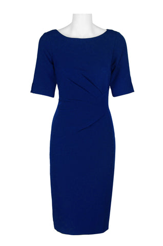 Blue Three Quarter Sleeved Dress - Sarai Afrique