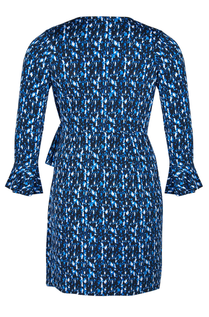 Blue Long Sleeved Dress Plus - Sarai Afrique