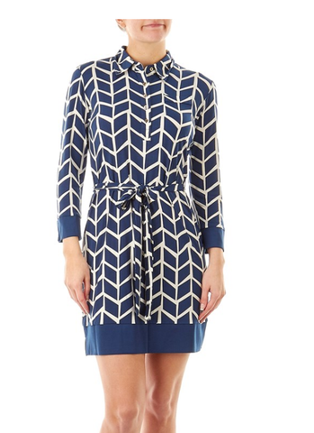 Blue White Shirt Dress - Sarai Afrique