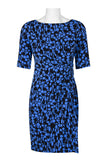 Blue black side ruched dress - Sarai Afrique