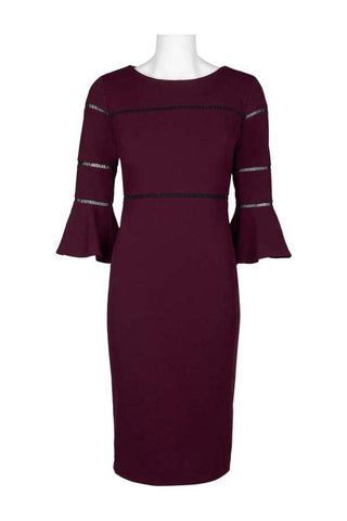 Burgundy Three Quarter Sleeves - Sarai Afrique