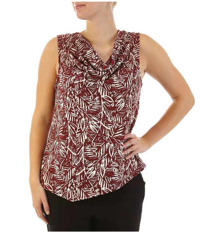 Burgundy Sleeveless - Sarai Afrique