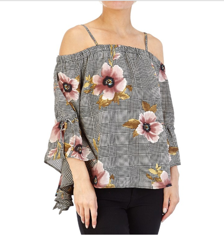 Floral checked top - Sarai Afrique