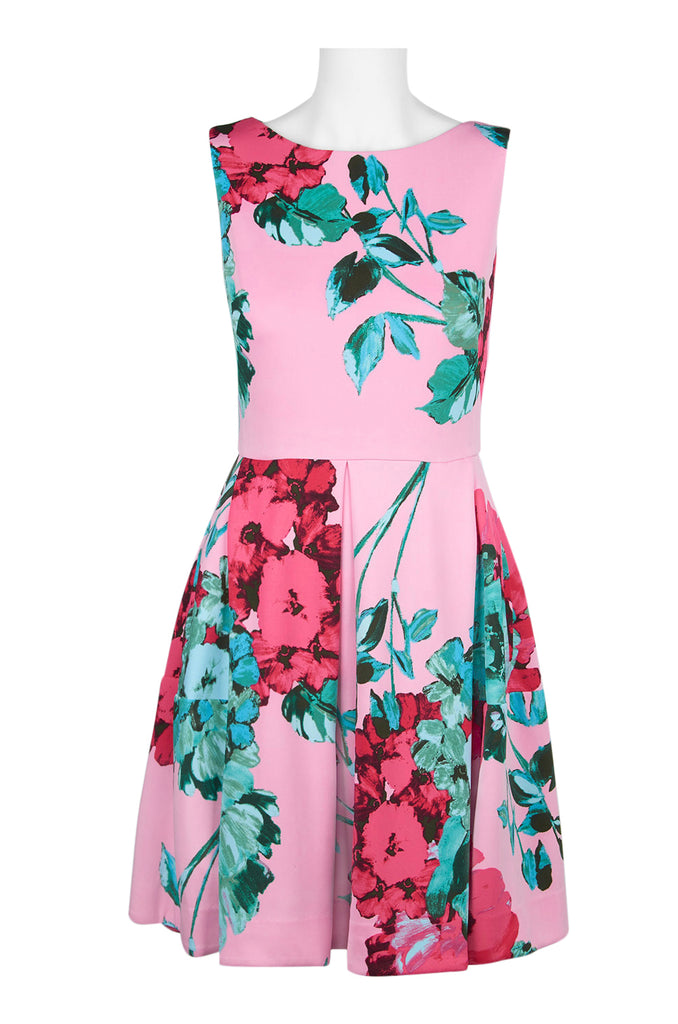 Floral Pink Fit and Flare - Sarai Afrique