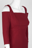 Maroon Cold Shoulder Dress - Sarai Afrique