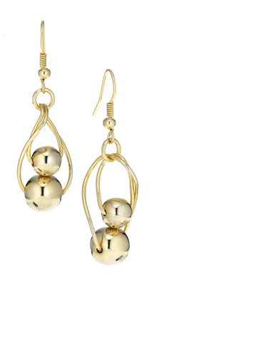 Gold Cicles Earrings - Sarai Afrique