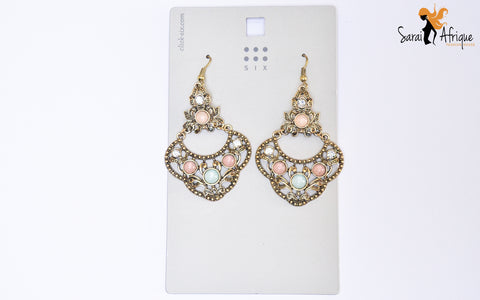 Dangling flowered earrings - Sarai Afrique