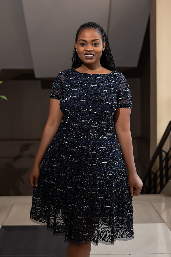 S/W blue dress-Sarai Afrique