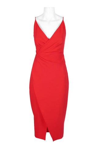 Red Overlap Dress - Sarai Afrique