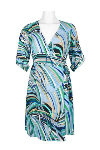 Ocean Midi Wrap Dress - Sarai Afrique