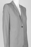 One Button Light Grey Jacket - Sarai Afrique