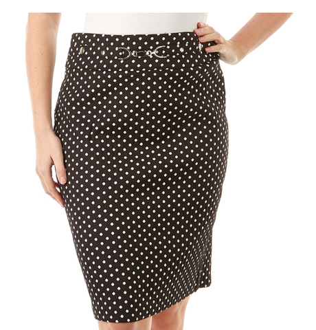 Polka Dot Buckled Skirt. - Sarai Afrique