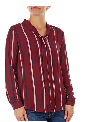 Red Stripped Down Shirt - Sarai Afrique