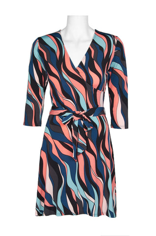 Sunset Stripped Wrap Dress - Sarai Afrique
