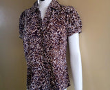 Brown and beige patterned top-Sarai Afrique