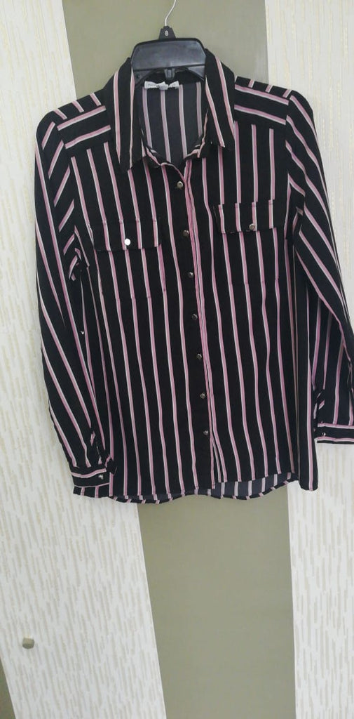 Black stripped shirt top-Sarai Afrique