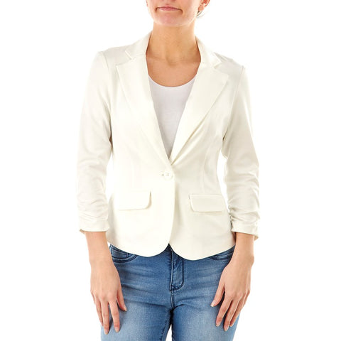 White one button Jacket - Sarai Afrique