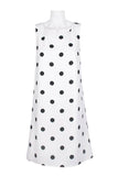 White dress with black polka dots - Sarai Afrique