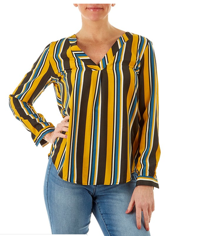 Yellow Stripped Top - Sarai Afrique