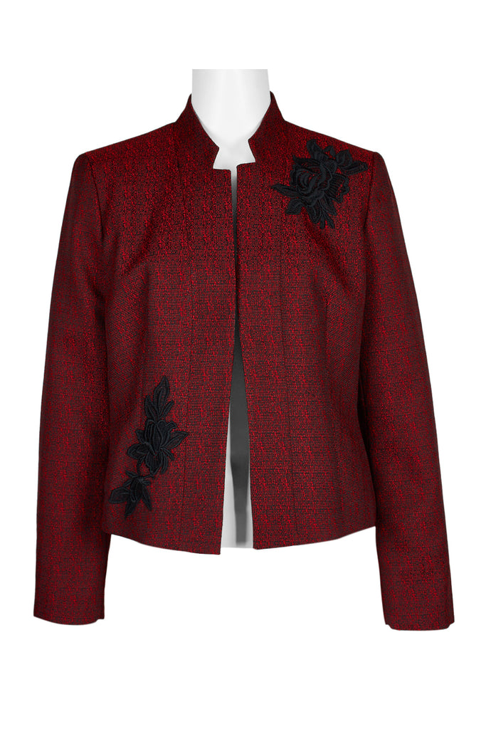 Maroon Blazer with Flower Decal
