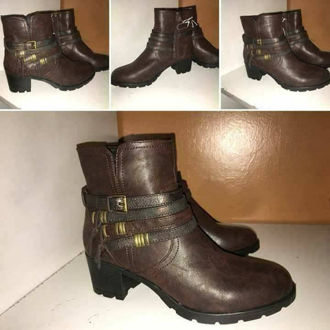 Brown Leather Boots - Sarai Afrique